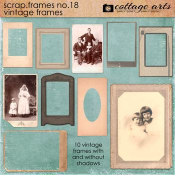 Scrap.frames 18 - Vintage Frames Digital Art - Digital Scrapbooking Kits