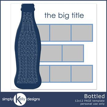 Bottled 12x12 Page Template