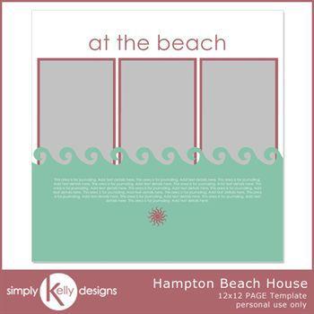 Hampton Beach House 12x12 Page Template