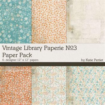 Vintage Library Paperie No.3 Digital Art - Digital Scrapbooking Kits
