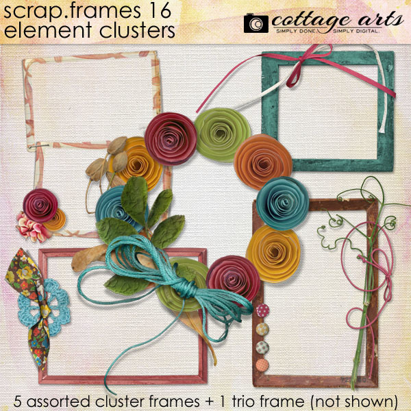 Scrap.Frames 16 – Element Clusters Digital Art - Digital Scrapbooking Kits