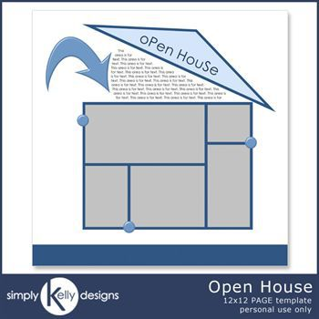 Open House 12x12 Page Template