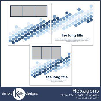 Hexagons 12x12 Pagetemplate Set
