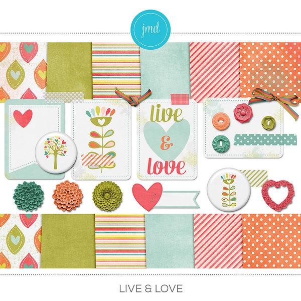 Live & Love Digital Art - Digital Scrapbooking Kits
