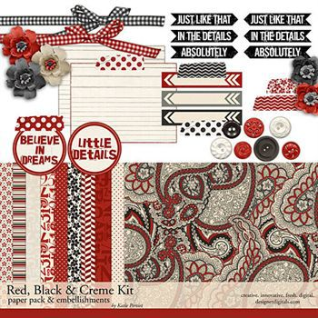 Red, Black And Creme Mini Kit