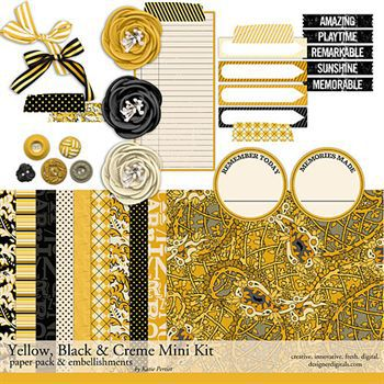 Yellow, Black And Creme Mini Kit