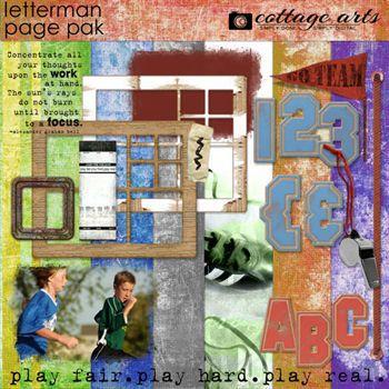 Letterman Page Pak W2 Alphasets