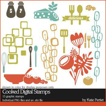 Cooked Digital Stamps