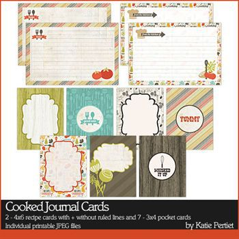 Cooked Journal Cards