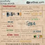 Positivity Scrap.Words