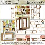 Scrap.frames 12 - 12x12 Frame Sets