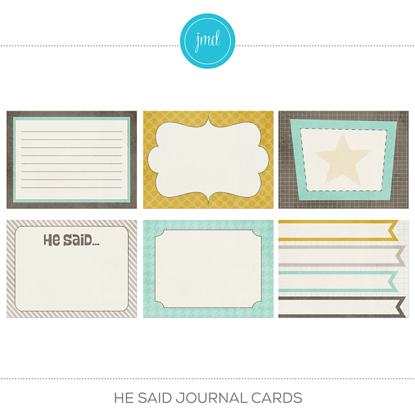He Said Journal Cards Digital Art - Digital Scrapbooking Kits