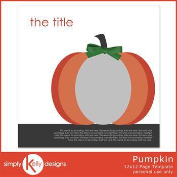 Pumpkin 12x12 Template