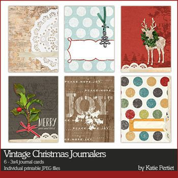 Vintage Christmas Journal Cards