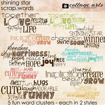 Shining Star Scrap.words