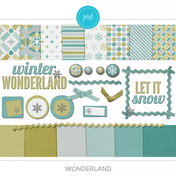 Wonderland Digital Art - Digital Scrapbooking Kits