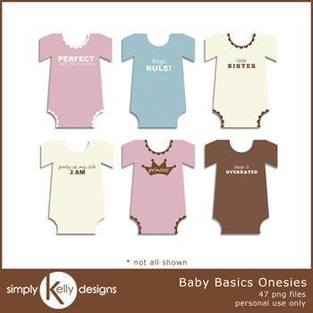 Baby Basics Onesies