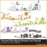 Haunted Woodlands Digital Stamps