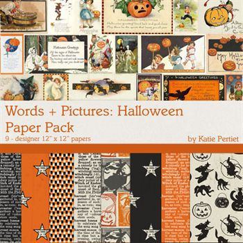 Words + Pictures Halloween Paper Pack