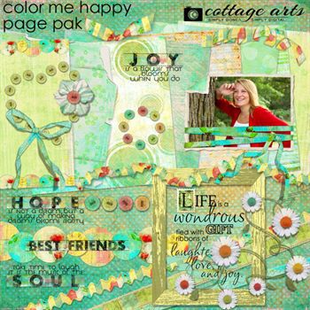 Color Me Happy Page Pak