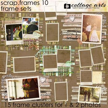 Scrap.frames 10 - Frame Sets Digital Art - Digital Scrapbooking Kits