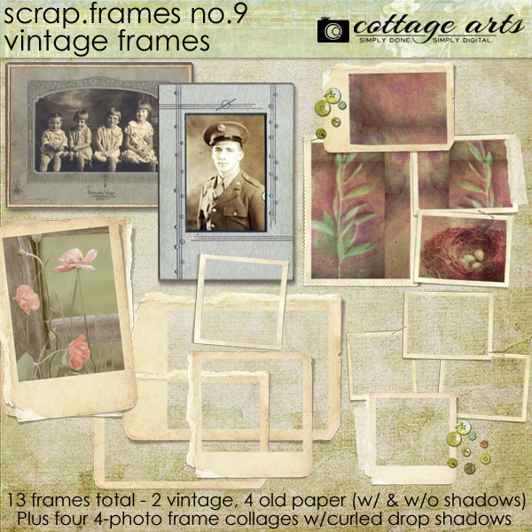 Scrap.Frames 9 – Vintage Frames Digital Art - Digital Scrapbooking Kits