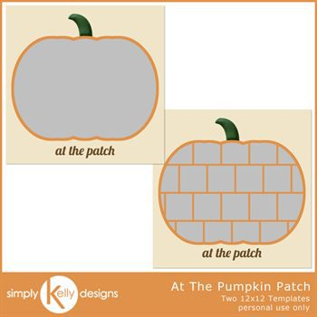 At The Pumpkin Patch 12x12 Template