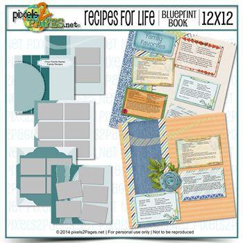 12x12 Recipes For Life Blueprint Book