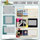 4x10 Clean & Classic Desktop Calendar
