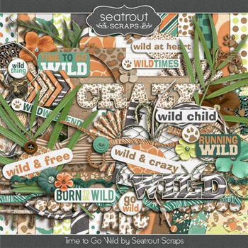 Time To Go Wild Digital Art - Digital Scrapbooking Kits