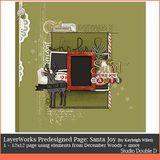 Layerworks Predesigned Santa Joy Page