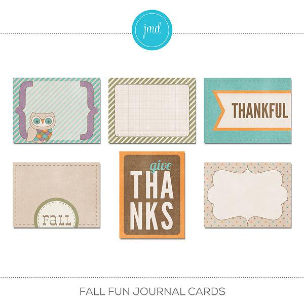 Fall Fun Journal Cards
