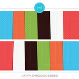 Happy Embossed Edges Cardstock