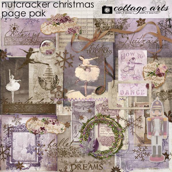 Nutcracker Christmas Page Pak