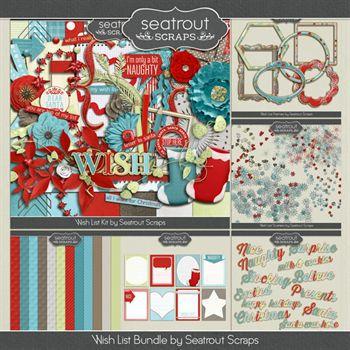 Wish List Bundle Digital Art - Digital Scrapbooking Kits