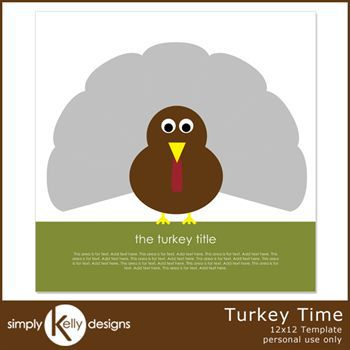 Turkey Time 12x12 Template