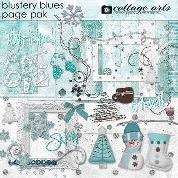 Blustery Blues Page Pak Walphaset