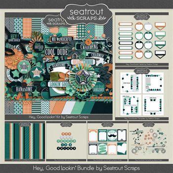 Hey, Good Lookin Bundle Digital Art - Digital Scrapbooking Kits