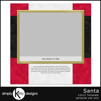 Santa 12x12 Template