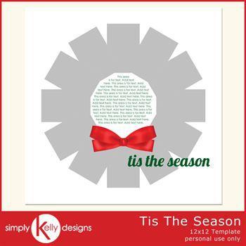 Tis The Season 12x12 Template