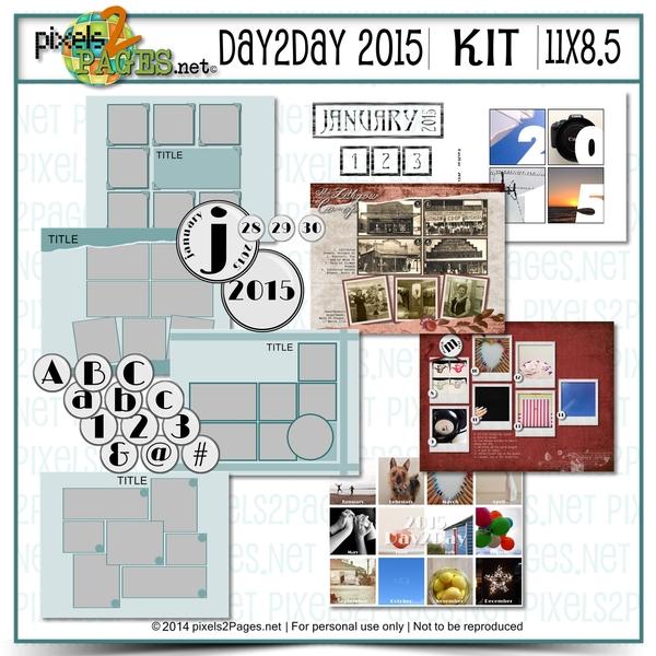 11x8.5 Day2day 2015 Kit