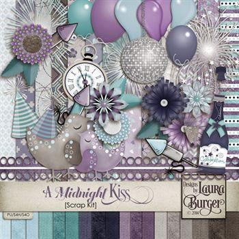 A Midnight Kiss Scrap Kit