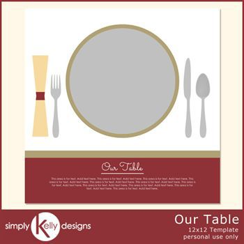 Our Table 12x12 Template