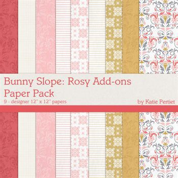 Bunny Slope Rosy Add-on Paper Pack