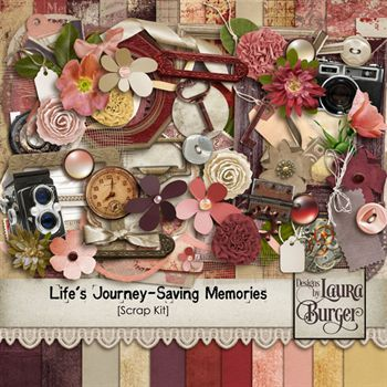 Life's Journey -saving Memories Scrap Kit