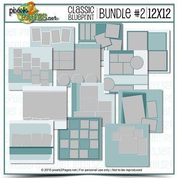 12x12 Classic Blueprint Collection Bundle #2