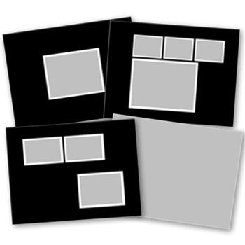 7x5 Basic Black Softcover Digital Art - Digital Scrapbooking Kits