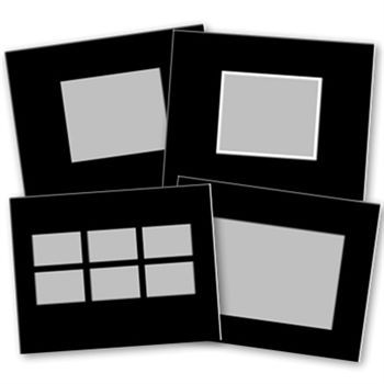Basic Black 11x8 Digital Art - Digital Scrapbooking Kits