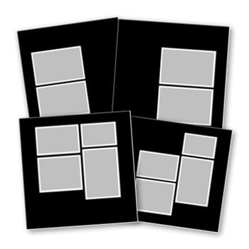 Basic Black 12x12 Digital Art - Digital Scrapbooking Kits