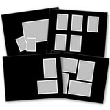 Basic Black Predesigned Pages 11x8.5